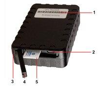 T119 IP65 A Prueba de agua 6000 mah batería GPS Tracker Imán Android y IOS App para el envase a granel inventario gps ranura para tarjeta sim tracker
