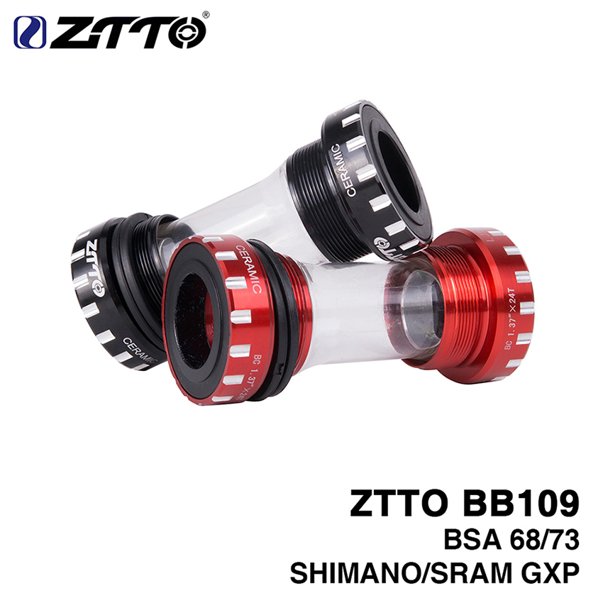 ZTTO BB109 BSA 68 73 MTB Moutain Bike Axle Road Bicycles Press fit Bottom Brackets for Shimano SRAM GXP Crankset ztto bsa30 bb68 bsa 68 73 mtb road bike external bearing bottom brackets for bb rotor raceface slk bb386 30mm crankset