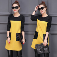 Plus Size M 4XL Women Autumn and Winter Dress Warm Knitting Women Long sleeve Dresses For Lady Casual Dresses