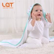 LAT/детское хлопковое экологически чистое банное полотенце с капюшоном и принтом+ носовой платок для лица, набор, ультра мягкая детская накидка для душа, Подарочные Накидки для кормления