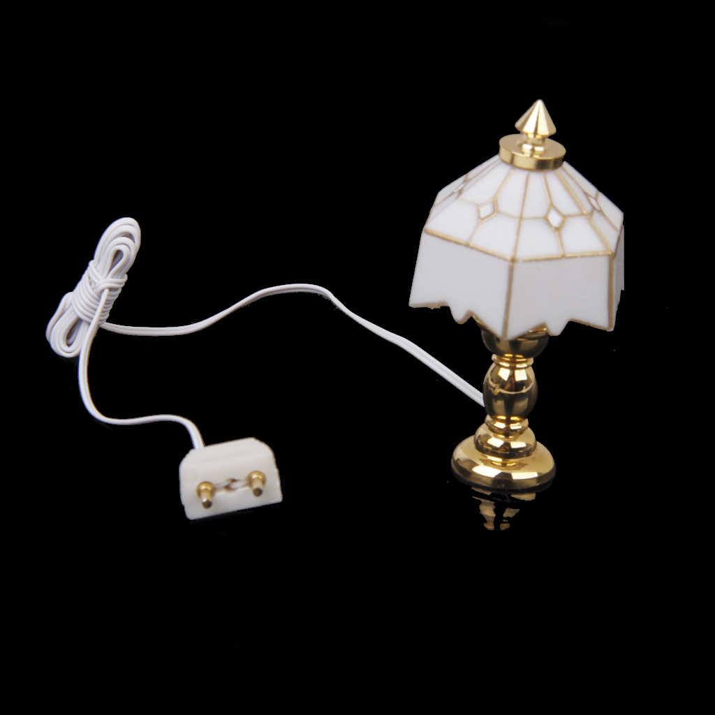 Новинка унисекс-игрушка 1:12 кукольный домик миниатюрная Настольная лампа Свет украшение для кукольного домика классический ролевые игры мебель игрушки для детей