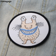 Homegaga Ahh real monster krumm DIY embroideried patches sew iron on clothes backpack decorations stickers badges D1954