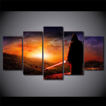Printed Frame HD Modern Pictures Canvas Living Room 5 Panel Movie Star Wars Painting Wall Art Home Decoration Modular Poster TYG(China)