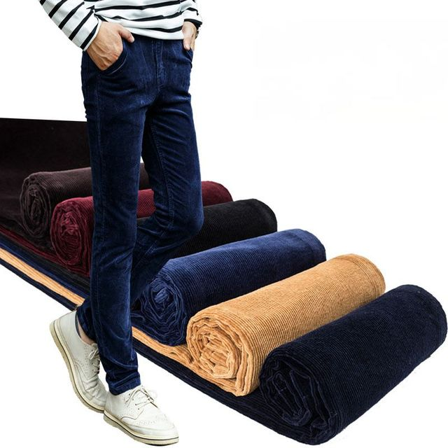 Mens Pants 2016 Brand Male Trousers Men Pants Casual Solid Corduroy cloth Pants Sweatpants Jogger Large Size 5 Color