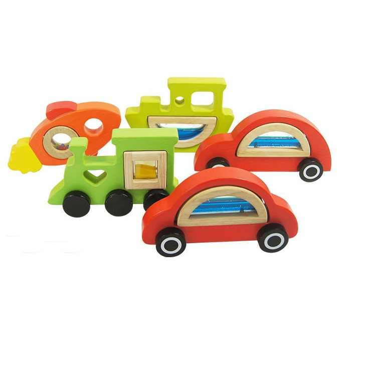 wooden transport toy cars can be played together with mirror blocks and acrylic blocks sell on one piece without blocks