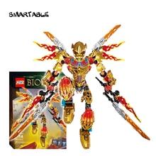 Smartable BIONICLE 209pcs Tahu Ikir 액션 피규어 빌딩 블록 완구 호환 주요 브랜드 71308 + 71303 BIONICLE Boy Gift