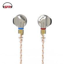 SENFER PT25 graphène dynamique écouteurs dans loreille stéréo oreille bourgeon salut FI métal DJ casque MMCX câble détachable pour iPhone xiaomi Sony