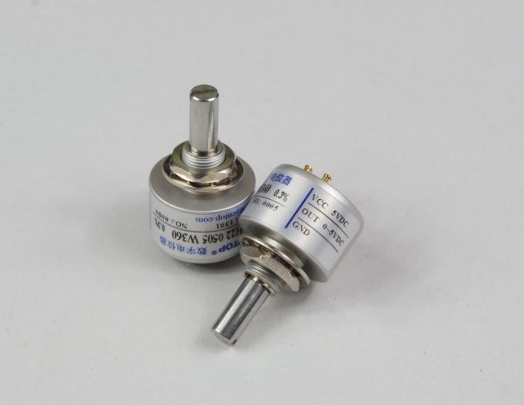 WDH22 endless 360 degree angle sensor 0-5V contactless encoder digitized potentiometer