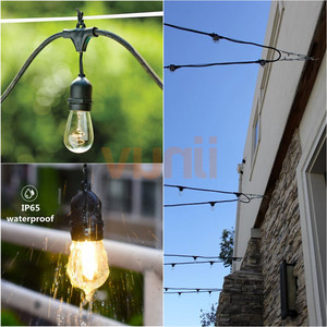 Image 4 - IP65 15M Commercial Grade LED S14 String Light Bulb LED Multicolor Light String For Outdoor Wedding Lighting Holiday Event Party
