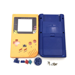 Image 4 - Geel en blauw Game Vervanging Case Plastic Shell Cover voor Nintendo GB voor Gameboy Klassieke Console Case behuizing