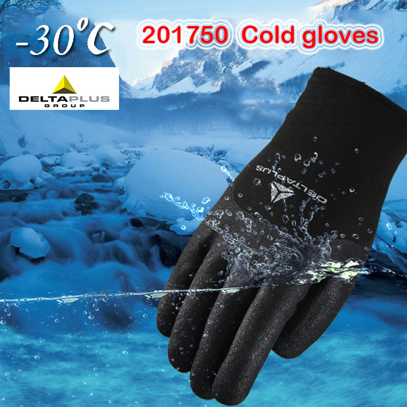 DELTA PLUS Nitrile Low Temperature Warm Gloves Winter Warm Wear-resistant Work Gloves Riding Ski Windproof Protective Gloves