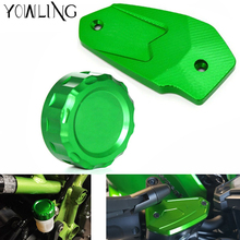 ER-6N Motorcycle CNC Rear brake reservoir cover caps Cylinder Reservoir Cover For Kawasaki ER-6N ER6N/F ER 6N 2009-2014