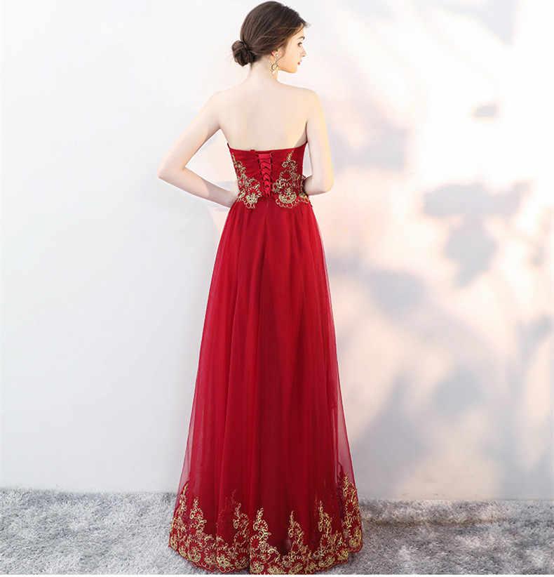 adaf5eff13 JaneVini Arabic Burgundy Bridesmaid Dresses with Cape Gold Lace Dubai Long  Gowns for Women Wedding Party Dress Robe De Marier