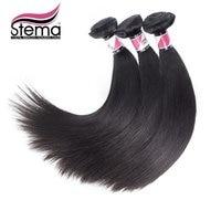 Free Shipping Stema Virgin Brazilian Straight Hair 3pc Brazilian Straight Virgin Hair Straight Ms Lula Human Hair Weave