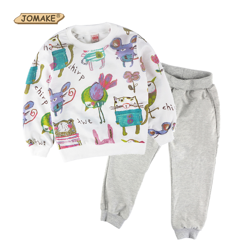 Children Clothing Set JOMAKE Brand Designs Baby Kids Clothes Sets Animals Graffiti Sweatshirts and Casual Harem Pants Sport Suit