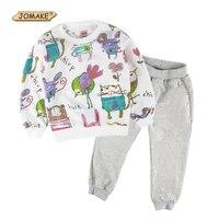 Niños Que Arropan el sistema JOMAKE Diseños de la Marca Bebé Ropa de Los Cabritos Sets Animales Graffiti Sudaderas y Pantalones Harem Ocasional Del Juego Del Deporte