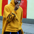 Gosha Rubchinskiy Rubchinsky Camisolas Homens Pullover Hip Hop Kanye Novo Multi-cuff Supremitied Capuz Skate Paccbet Felpe
