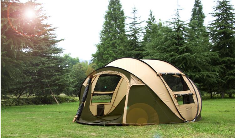 5 8 Person 220*280*120cm Ultralight Large C&ing Tent Waterproof Windproof Shelter Pop Up Automatic C&ing Tents Shop Online-in Tents from Sports ... & 5 8 Person 220*280*120cm Ultralight Large Camping Tent Waterproof ...
