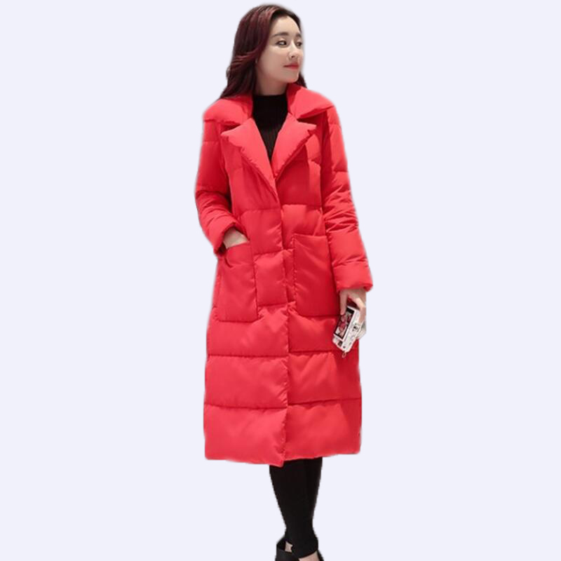 New Women's   Down   Jacket Long 2019 Winter   Down   Jacket Women   Down     Coat   Thickening White Duck   Down   Jacket Female Suit Collar