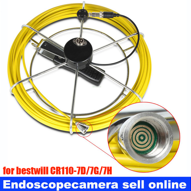 50M Replacement Cable for Under Water Sewer Drain Pipe Wall Inspection Camera Waterproof Video Snake Sewer Drain camera cable