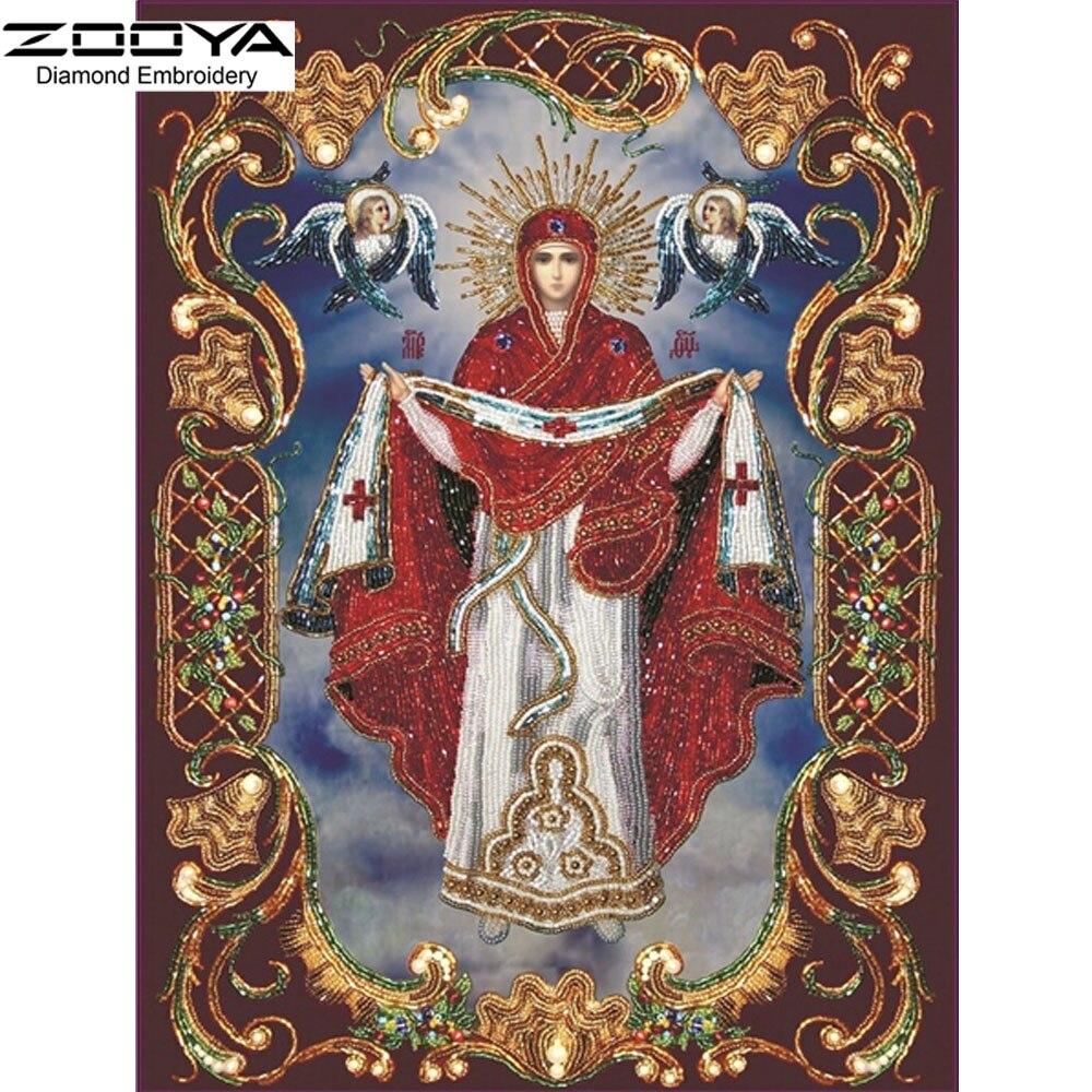 DIY Diamantové malování Mozaika řemesel Náboženství a dva andělé vykládané Dekorativní malba Nástěnné vrtáky Celoplošný diamantové vyšívání BJ112
