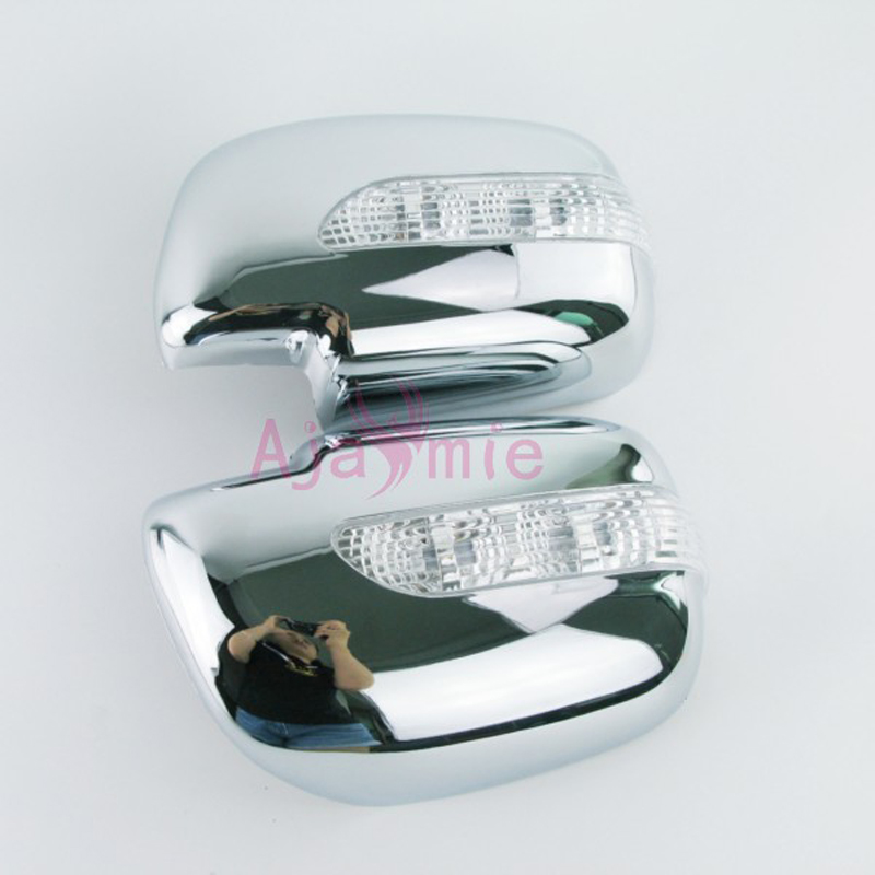 Door Mirror Overlay cover with LED Turn signal 2005 2006 2007 2008 2009 2010 2011 Chrome