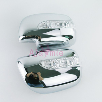 Door Mirror Overlay cover with LED Turn signal 2005 2006 2007 2008 2009 2010 2011 Chrome For toyota Fortuner SW4 Accessories image