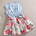 2017 Spring Girls Jeans Dresses Cotton Baby Dress Sleeveless Lolita Style Girls Clothing Infant Princess Dress Baby Girl Clothes