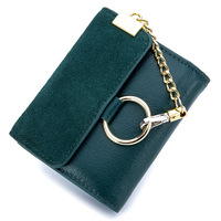 Small Wallet New Female Korean Version Genuine Leather Tide Personality Short Paragraph Folding Mini Coin Pocket
