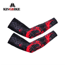 KINGBIKE Unisex Arm Sleeves Cycling Sleeves Variety Color Polyester Viscose Spandex Cycling Arm Warmers Comfortable Bike Sleeves