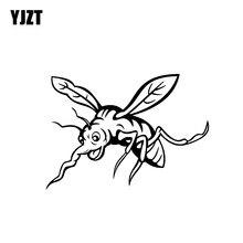 YJZT 15.9CM * 11.2CM Strong Bug Insect Mosquito okrutna winylowa tablica naścienna urocza naklejka na samochód czarny/srebrny C19-0742