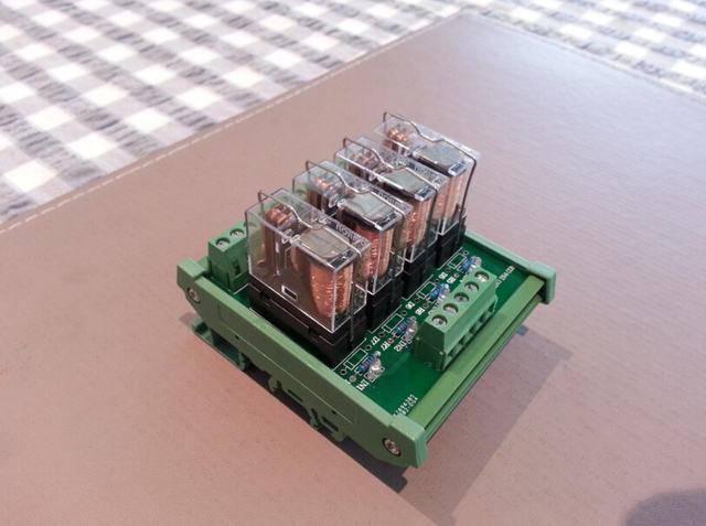 12V DC Relays DIN Rail Mount 4 SPDT 16A Power Relay Interface Module