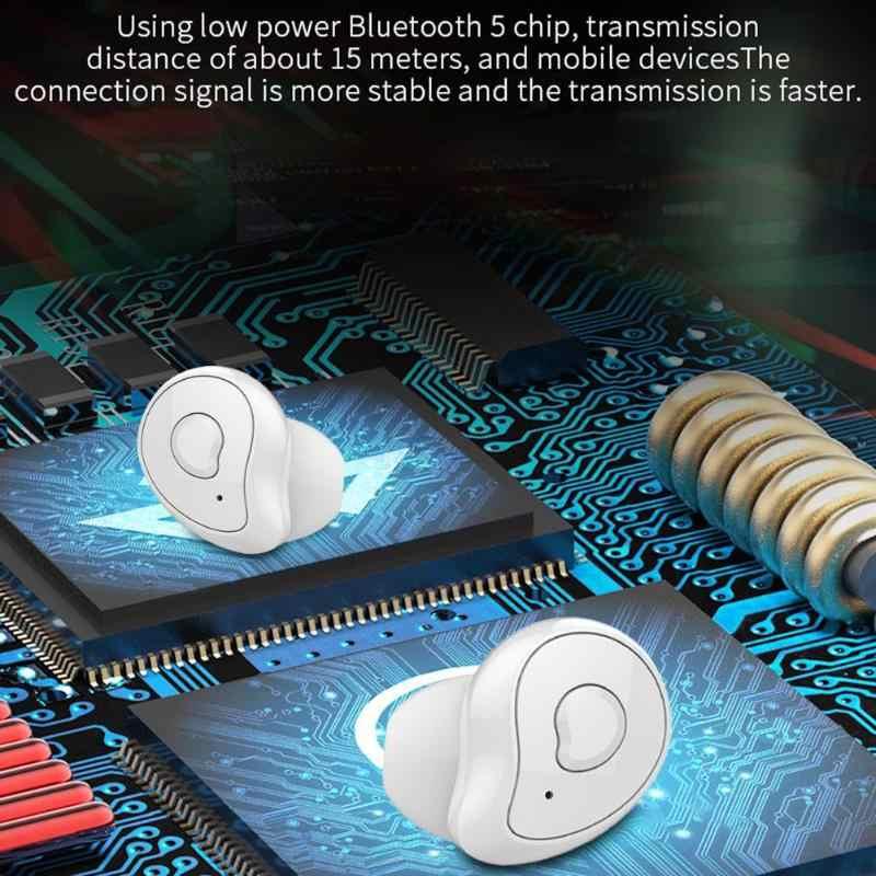 QCR Bluetooth 5.0 TWS Bluetooth イヤホン 6D ステレオワイヤレスイヤホン IPX5 防水イヤホン 650 2600mah Headfree イヤホン