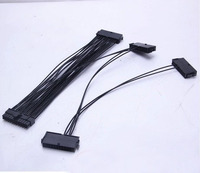 24Pin 20pin 4pin Quad PSU Power Supply Motherboard Adapter Cable For Btc 30cm 2000W