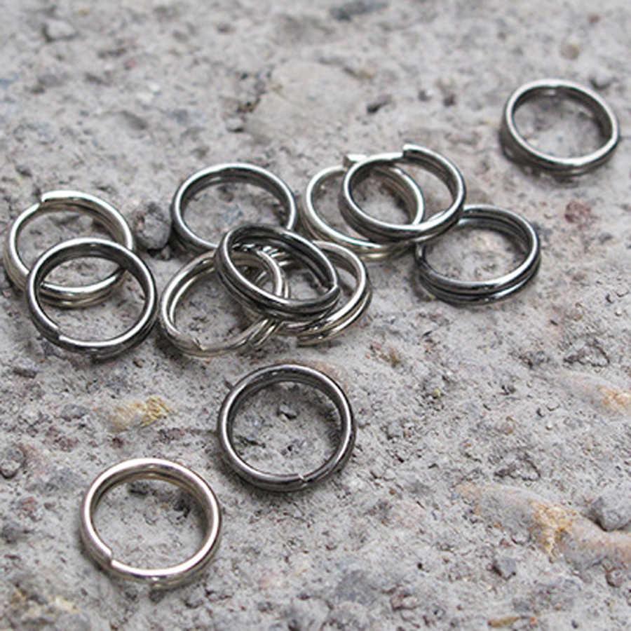 """10 יחידות 10 מ""""מ קוטר פיצול מפתח טבעת אולטרה קטן סגסוגת Keychain מתכת חוט מעגל Keyring J079"""
