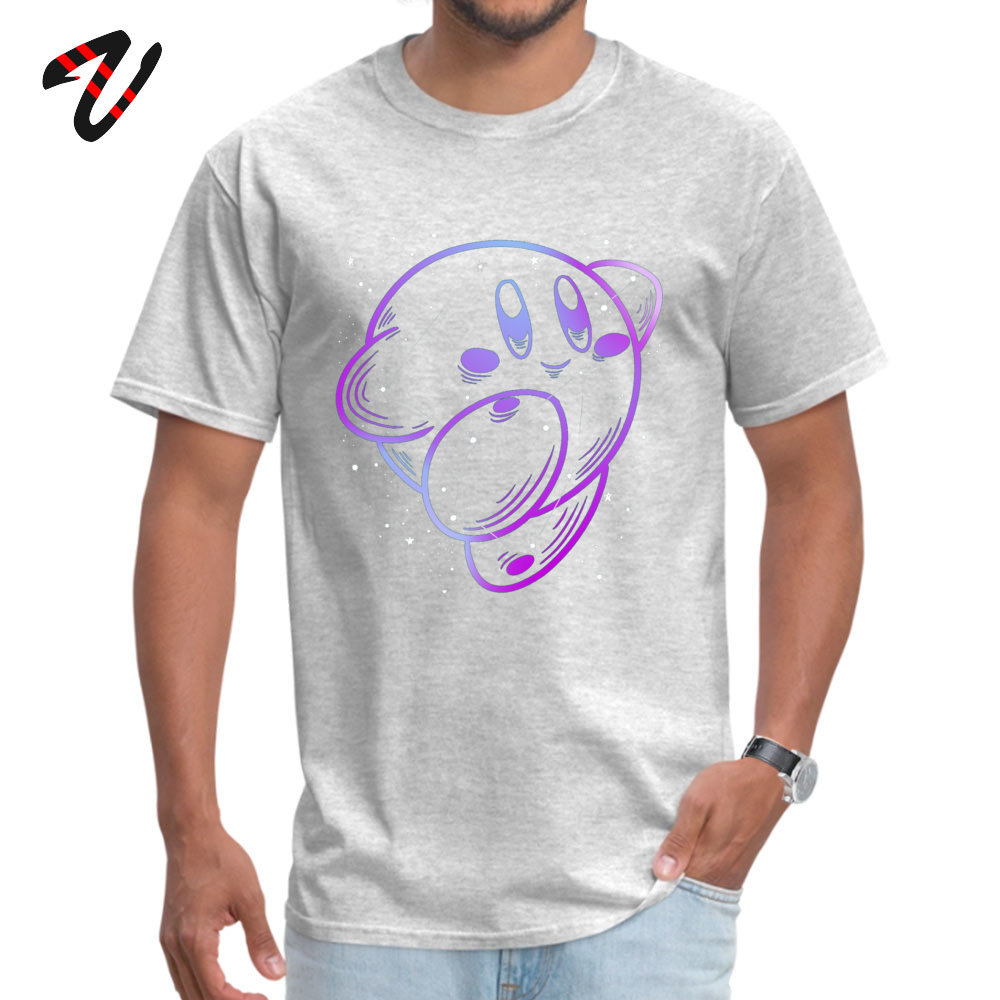 Kirby Constellation Short Sleeve Tops & Tees Crewneck 100% Cotton Men Top T-shirts Classic Tee Shirts Graphic Drop Shipping Kirby Constellation10926 grey