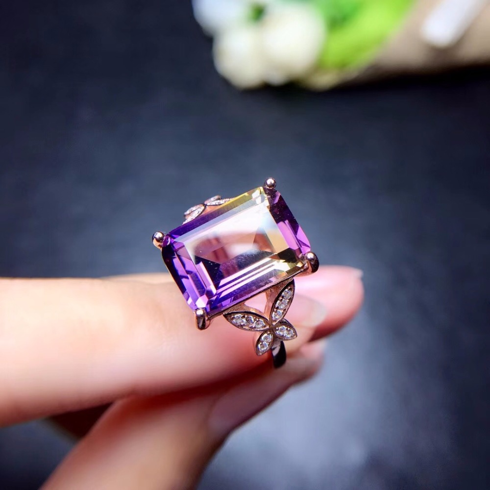 HTB1SYtLbyDxK1Rjy1zcq6yGeXXaY - Uloveido Exquisite Gemstone Natural Amethyst Lady Ring 925 Sterling Silver