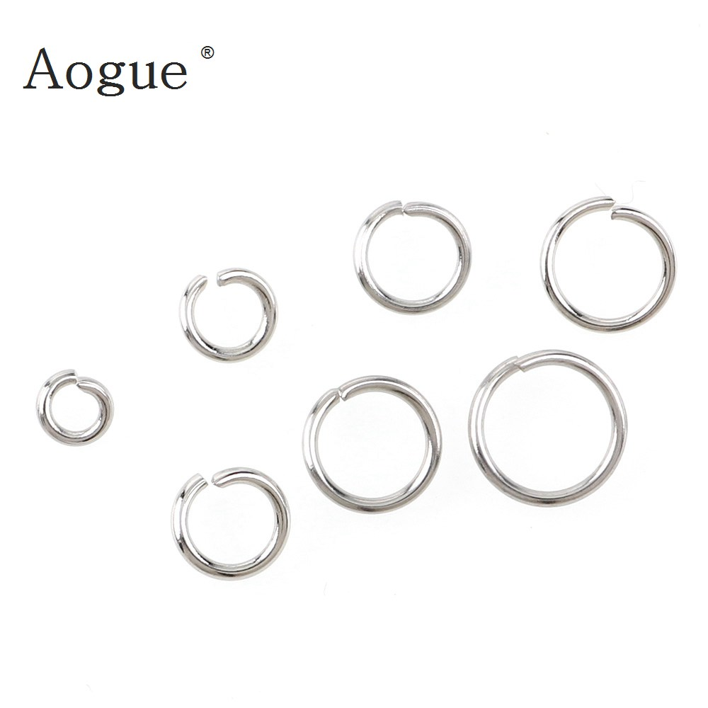 1450pcs Box Set Bronze Tone Open Jump Ring for DIY Clay Jewelry Making Findings 3mm-10mm