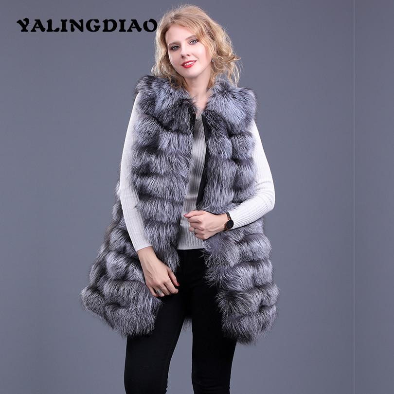 Maylofuer High Quality 100% Real Fox Fur Vest Genuine