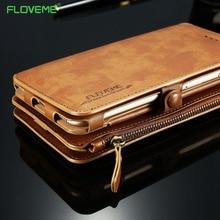 FLOVEME PU Leather Case For iPhone 7 6 s 6 Плюс 5 5S SE ретро Бумажник Обложка Защитный Мешок Мобильного Телефона Для iPhone 6 7 Plus Оболочек
