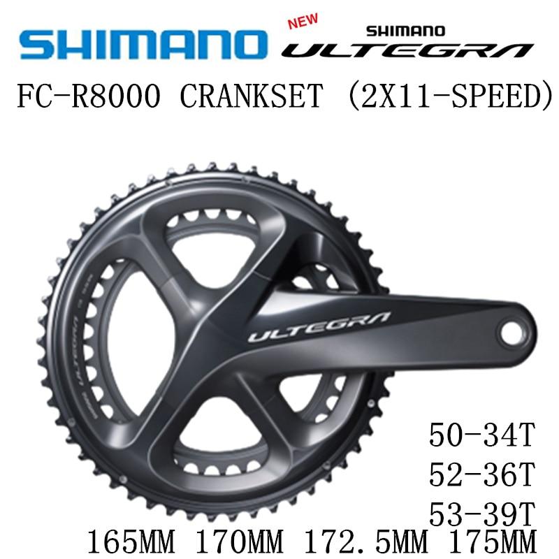 SHIMANO ULTEGRA FC R8000 Crankset R8000 HOLLOWTECH II CRANKSET 2x11 Speed 50 34T 52 36T 53