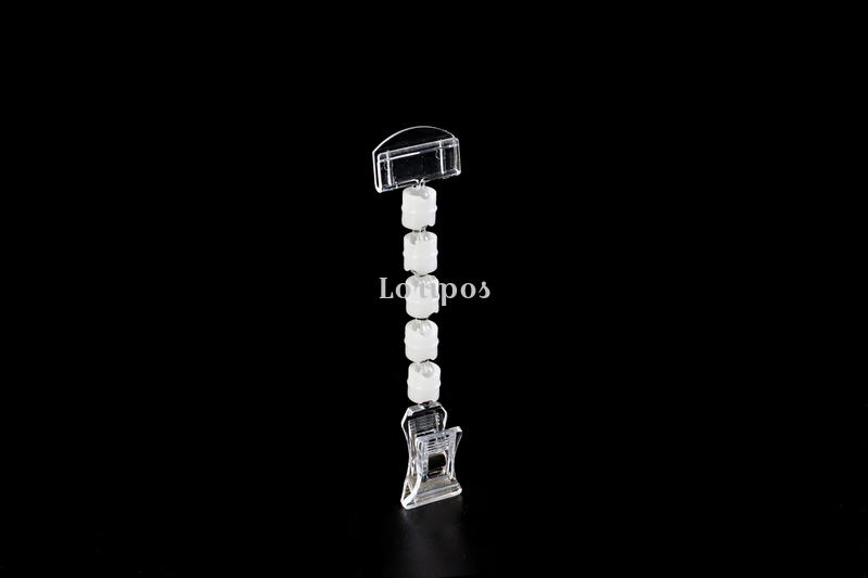 Image 5 - POP price card clamp advertising tag clip label holder adjustable clear plastic sign holder memo note paper photo clip-in Furniture Accessories from Furniture