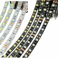 5 m/lote tira de LED Flexible 5050 60 LEDs/m la luz LED RGB/blanco/caliente Blanco/Rojo /Verde/azul 5050 tira de LED DC12V