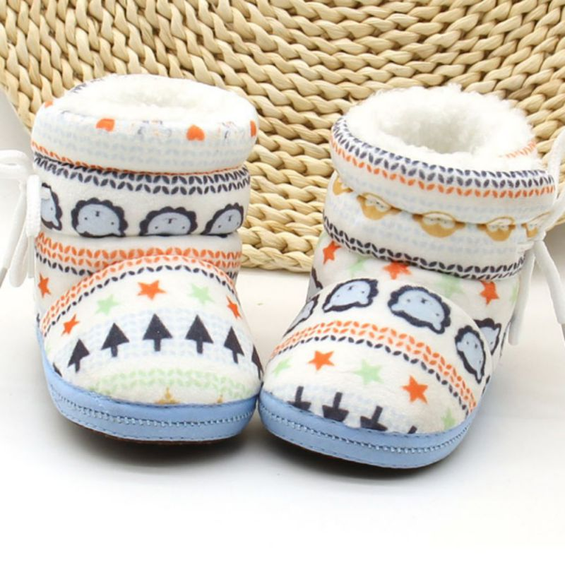 Infant Toddler Newborn Kids Baby Shoes Algodón Acolchado Raquetas de - Zapatos de bebé - foto 2
