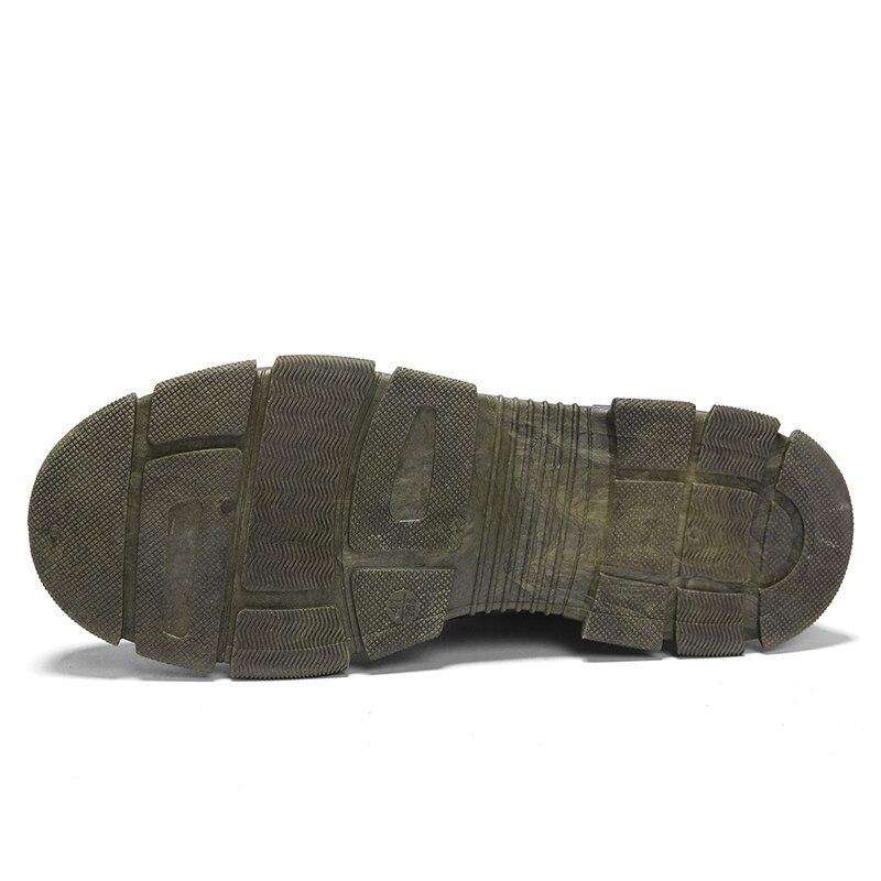 Altos Maré verde Homens Tendência Botas Nova Moda preto 5 Dos Martin Bege Retro Inverno Da Ferramentas Sapatos De 8qApw5H