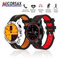 Micorsax hombres smartwatches M6 negocio teléfono Bluetooth reloj pulsera inteligente pulsera con MP3 podómetro Sport fitness Tracker