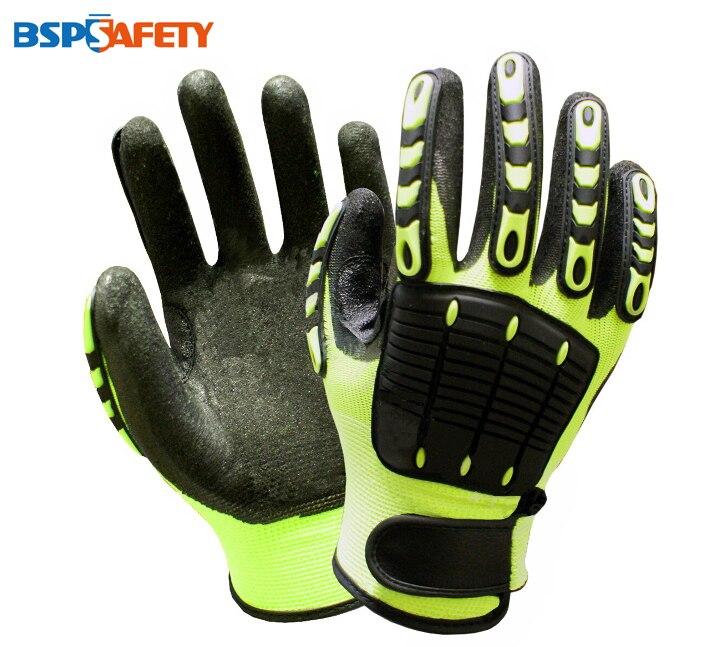 Anti Vibration And Shock Safety Glove Anti Impact Resistant Oilfield Mechanics Work Glove