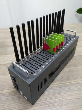Bulk sms sending device low multi sim modem quad band 850/ 900/ 1800/ 1900mhz 16 port gsm modem pool