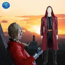 MANLUYUNXIAO New Men's Fullmetal Alchemist Cosplay Edward Elric Costume Halloween Costumes For Men High Quality Custom Made
