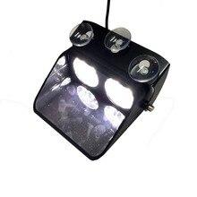 XYIVYG 8 LED 8W White Car Beacon Flashing Light Bar Emergency Windshield Strobe Warning Fash Lamp 24W